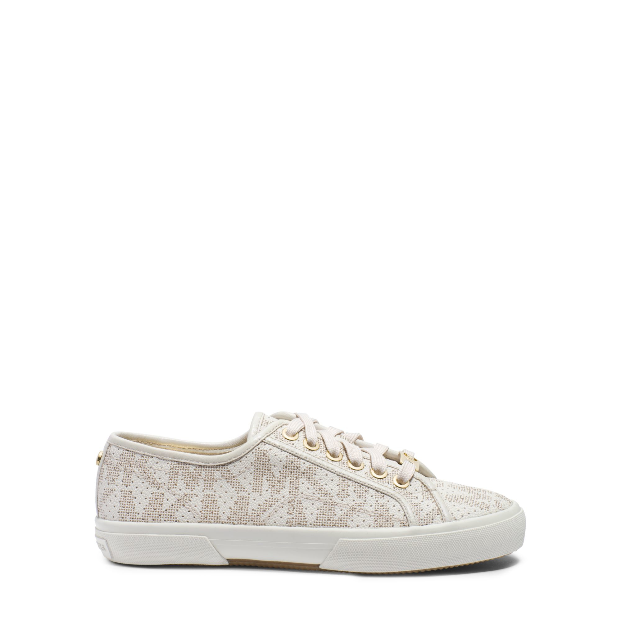 bb64f732fd84b Lyst - Michael Kors Boerum Logo Leather-trimmed Sneaker in White