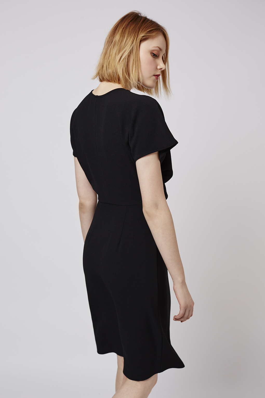 Topshop black wrap over dress