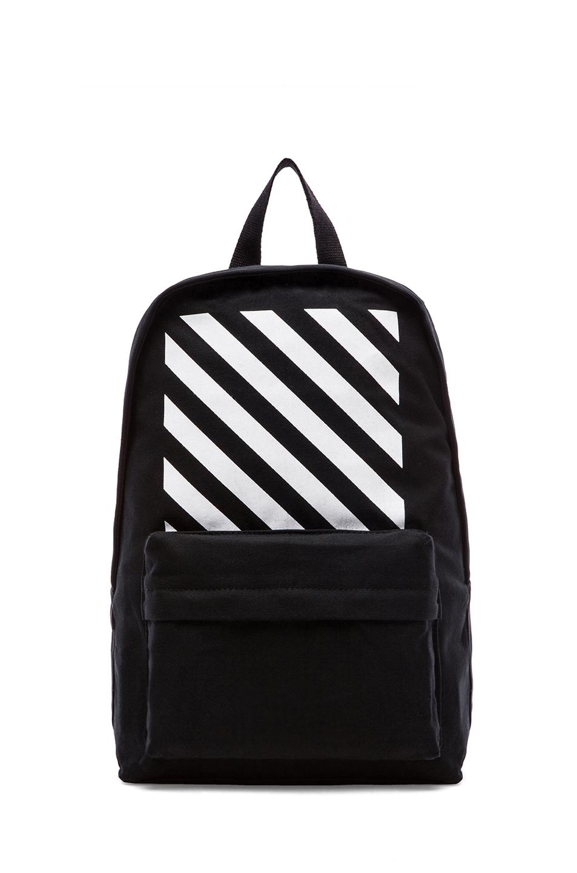 lyst off white c o virgil abloh mens backpack in black. Black Bedroom Furniture Sets. Home Design Ideas