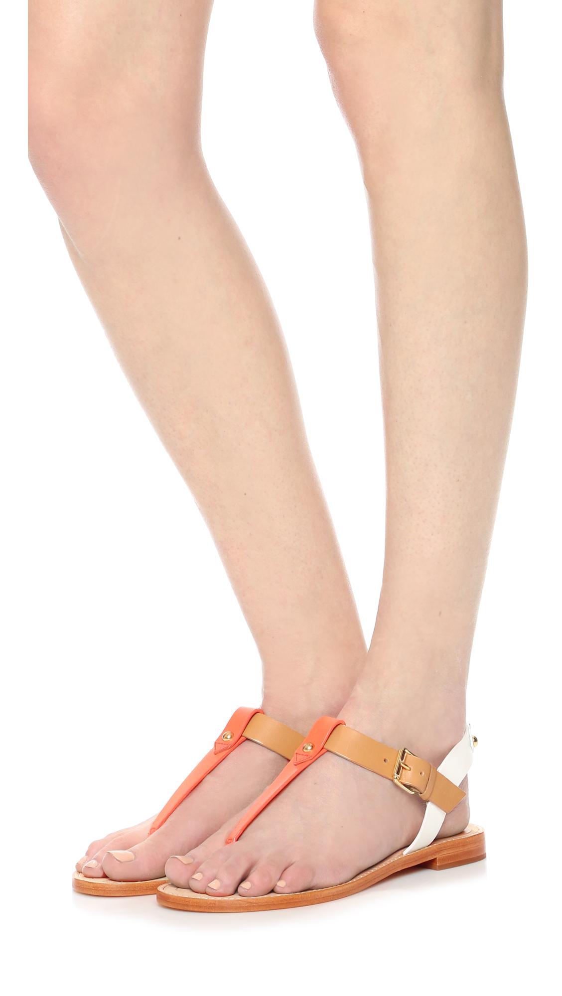 d72851619b2b Lyst - Kate Spade Sky Thong Sandals in Orange
