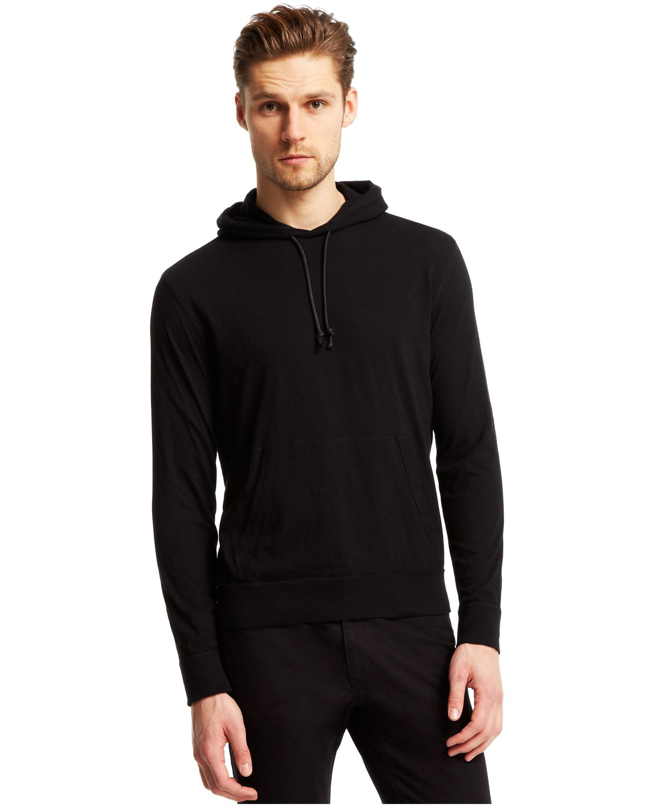 Kenneth cole reaction Textured T-shirt Hoodie in Black for Men | Lyst