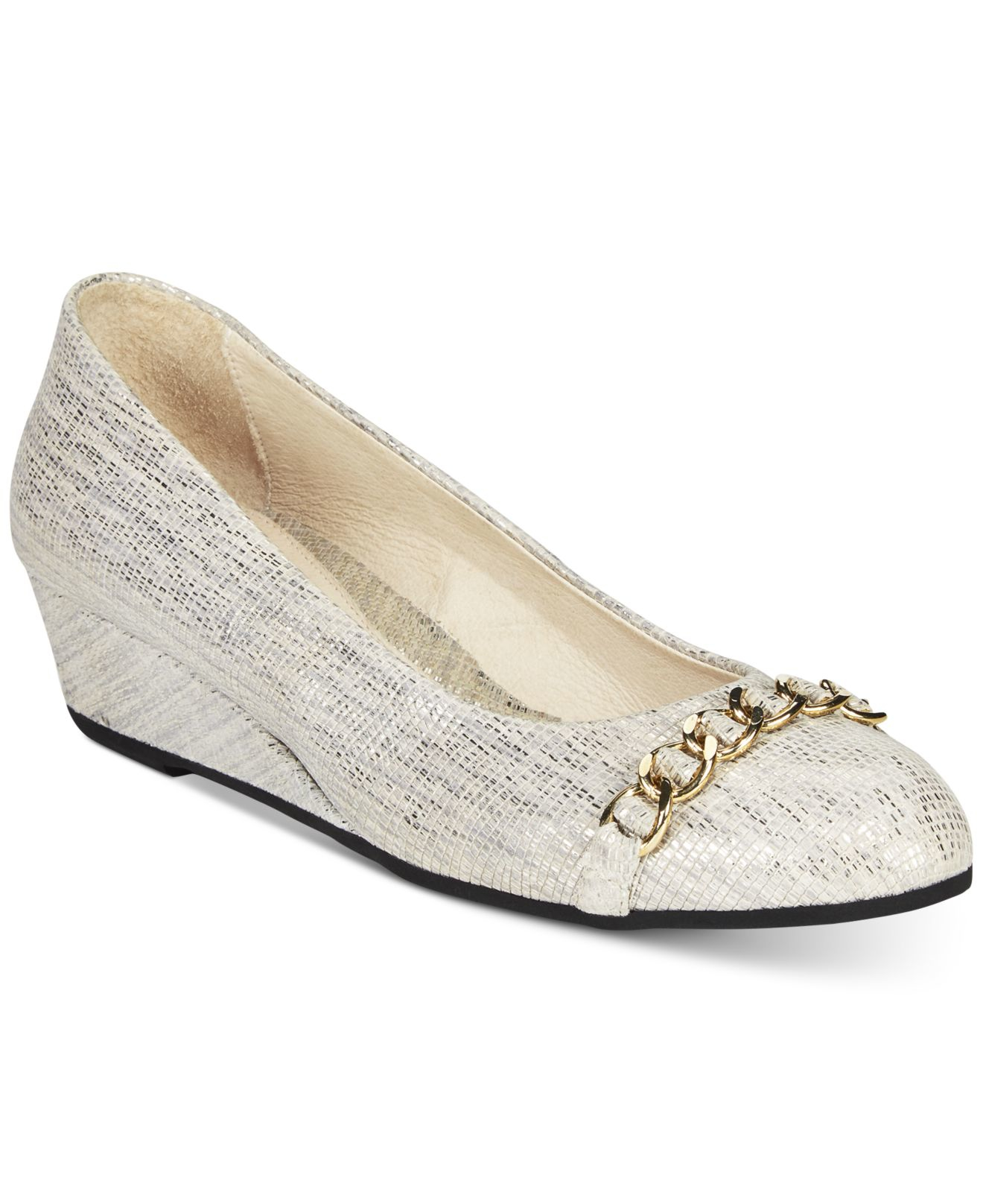 Lyst French Sole French Sole Obsessive Wedges In Gray