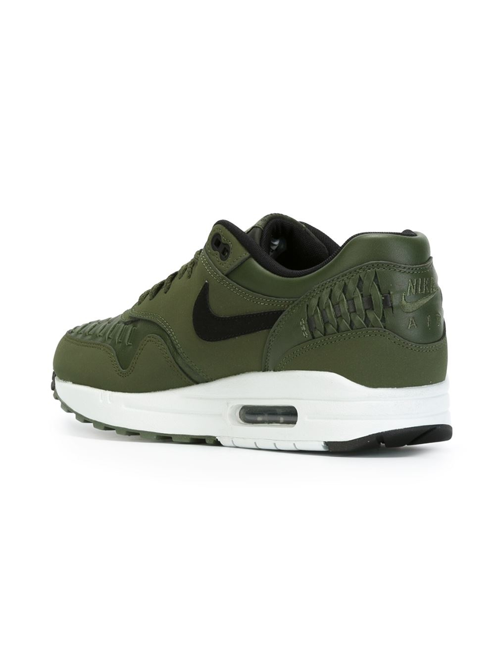 nike 39 air max 1 39 woven sneakers in green for men lyst. Black Bedroom Furniture Sets. Home Design Ideas