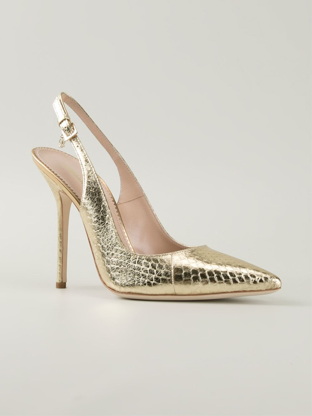 Dsquared² Slingback Pumps in Gold (metallic) | Lyst
