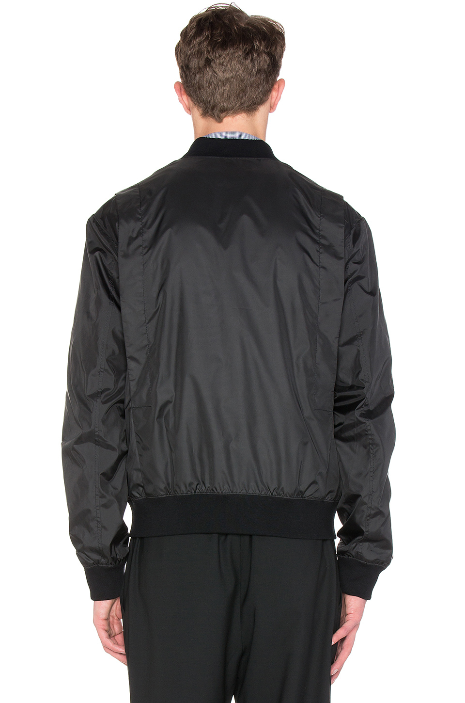 Abercrombie And Fitch Men Black Jacket Full Zip Male