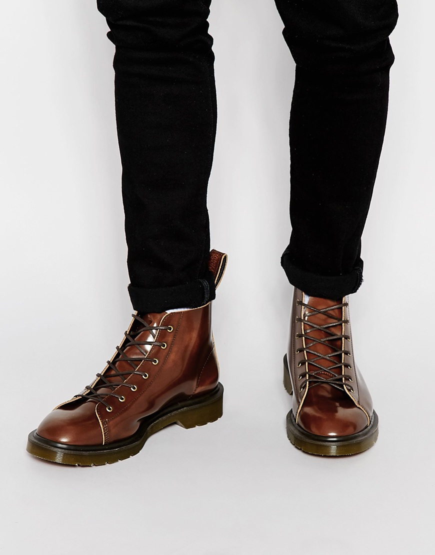 Lyst Dr Martens Made In England Core Les Lace Up Boots