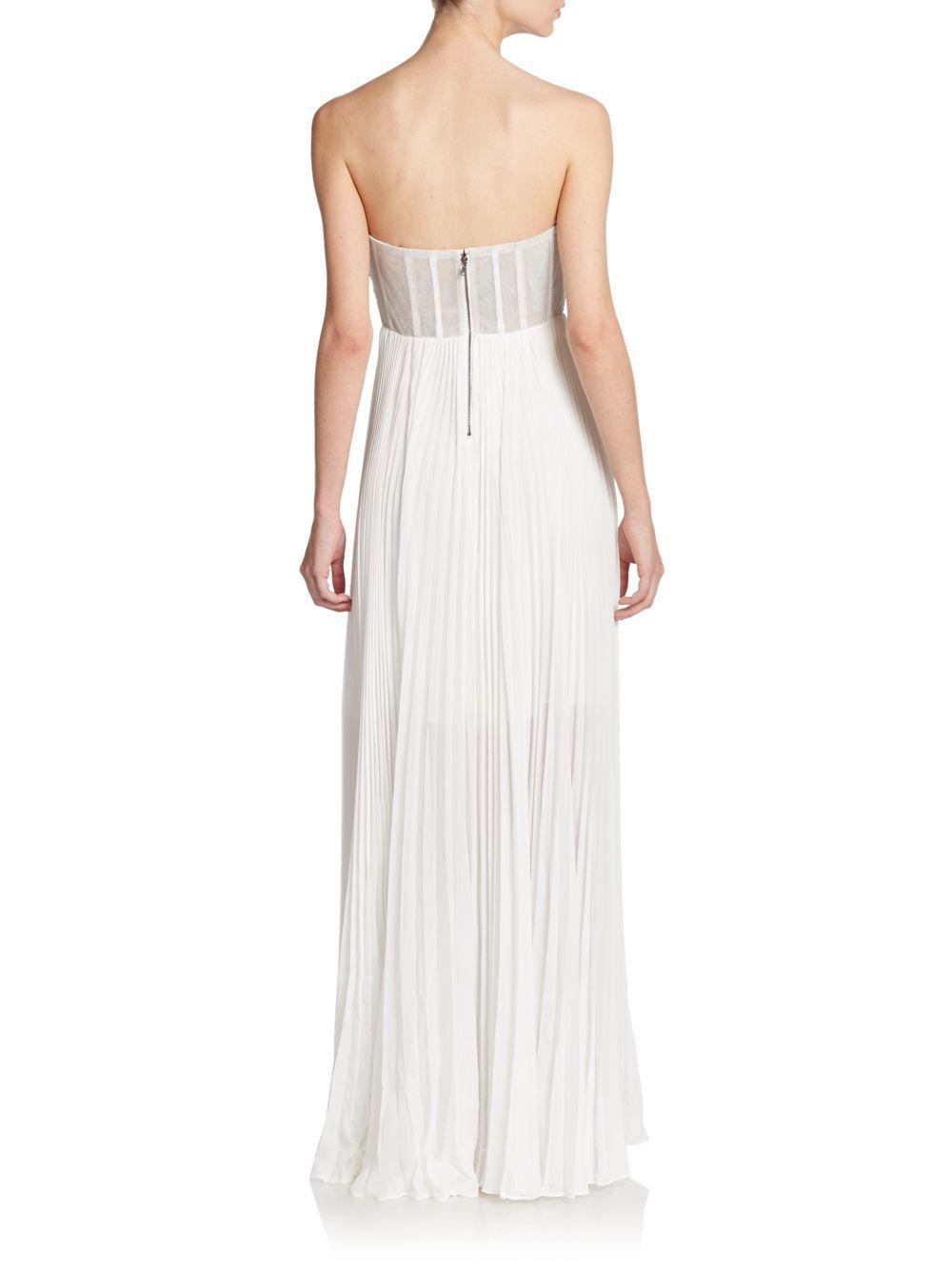 b7db6ce727e Lyst - Alice + Olivia Shira Silk   Sequin Maxi Dress in Metallic