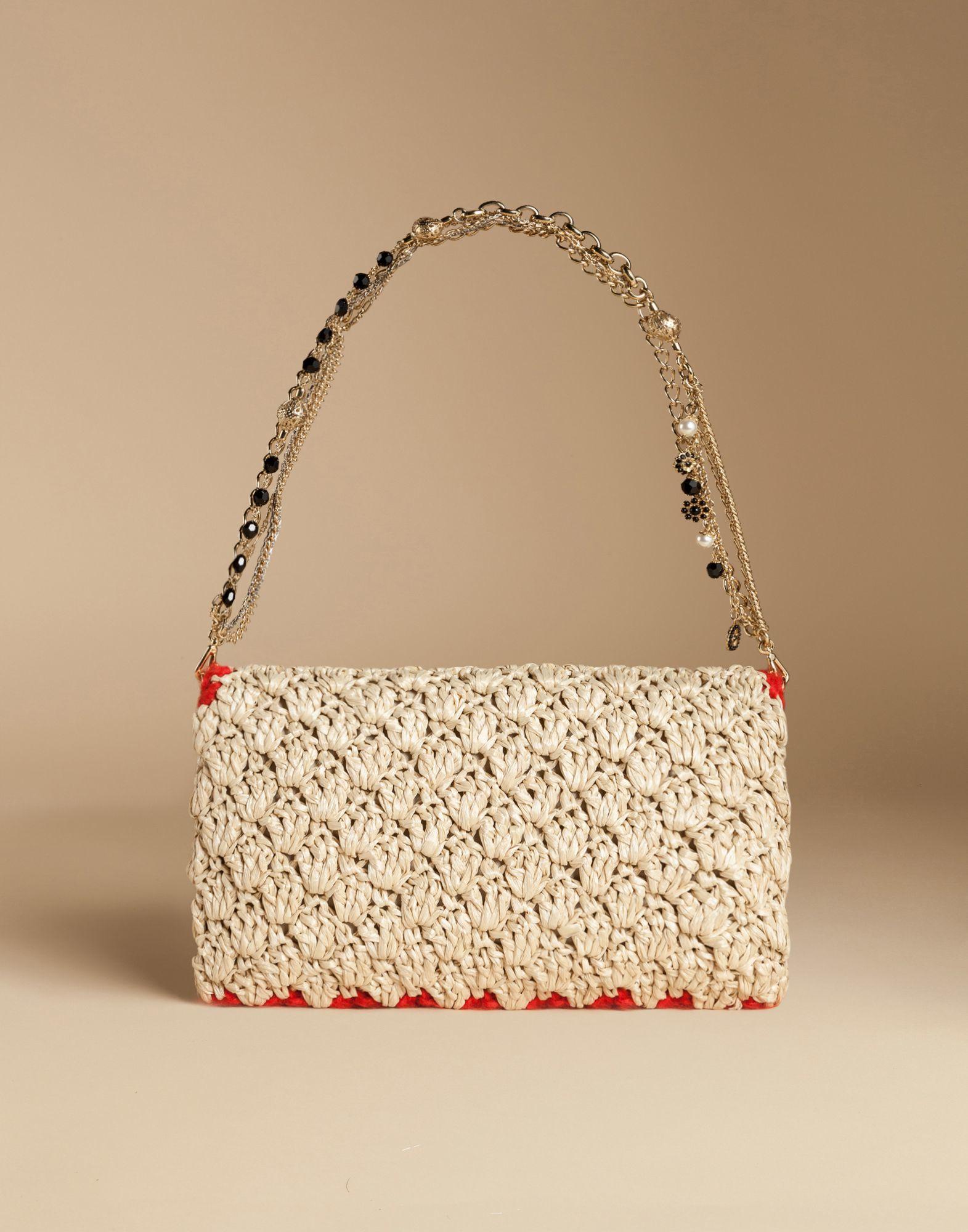af73febaab Lyst - Dolce   Gabbana Rosa Raffia Bag With Embroidery And Appliques