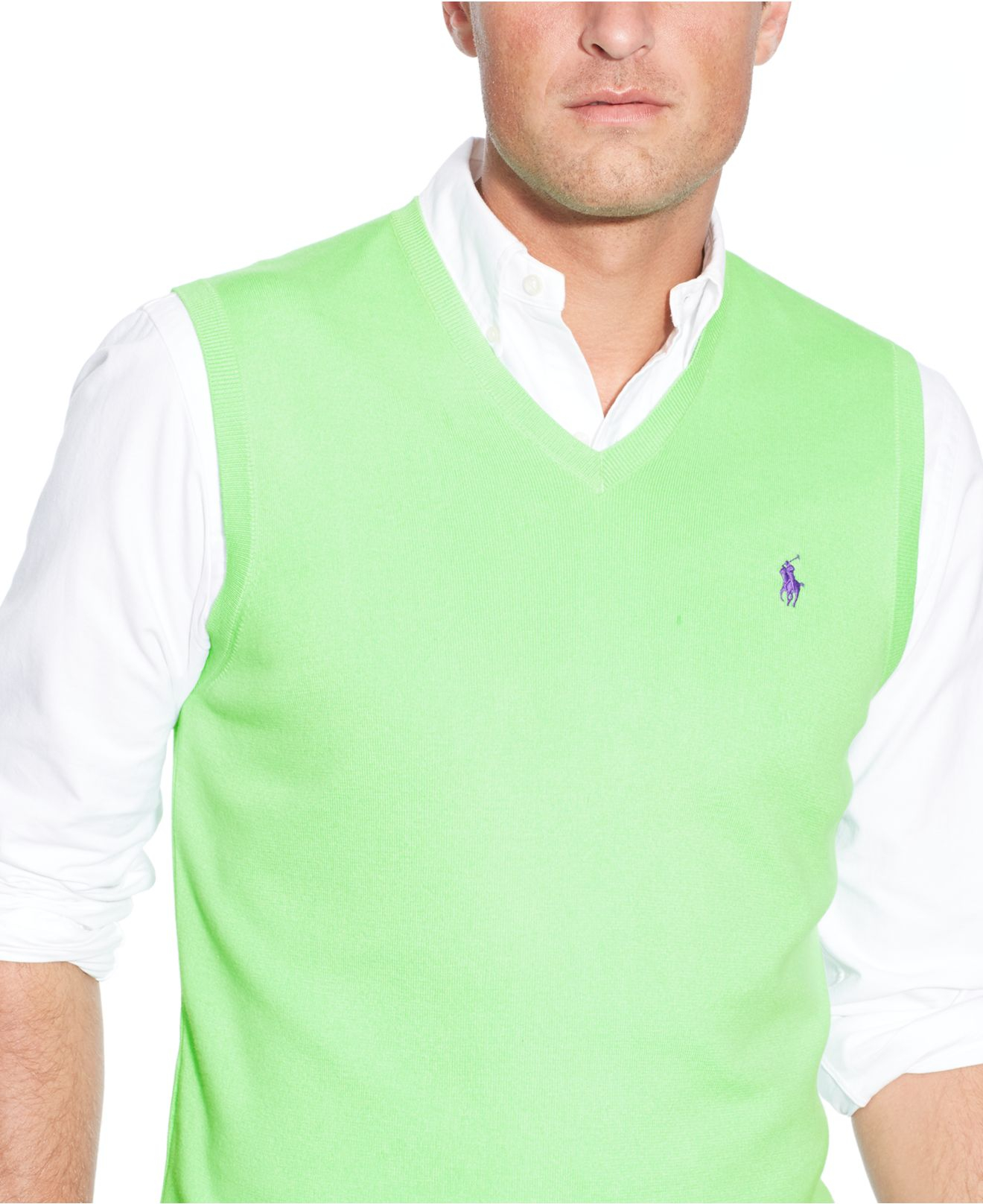 Polo ralph lauren Big And Tall Pima Cotton V-Neck Sweater Vest in ...