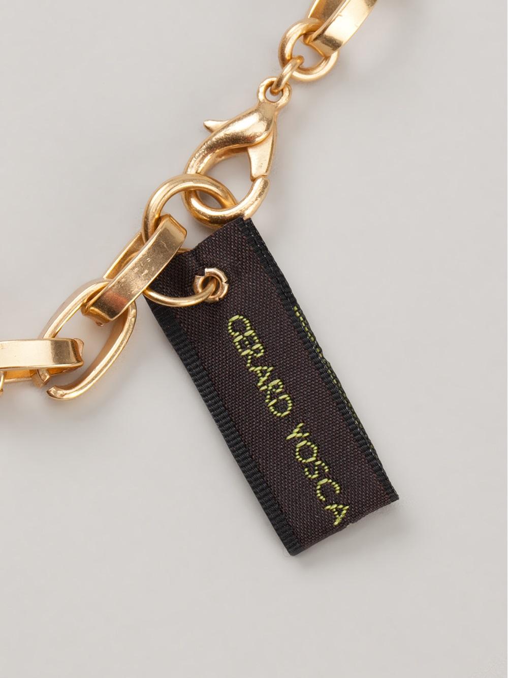 Gerard Yosca Large Deco Necklace in Black (Metallic)