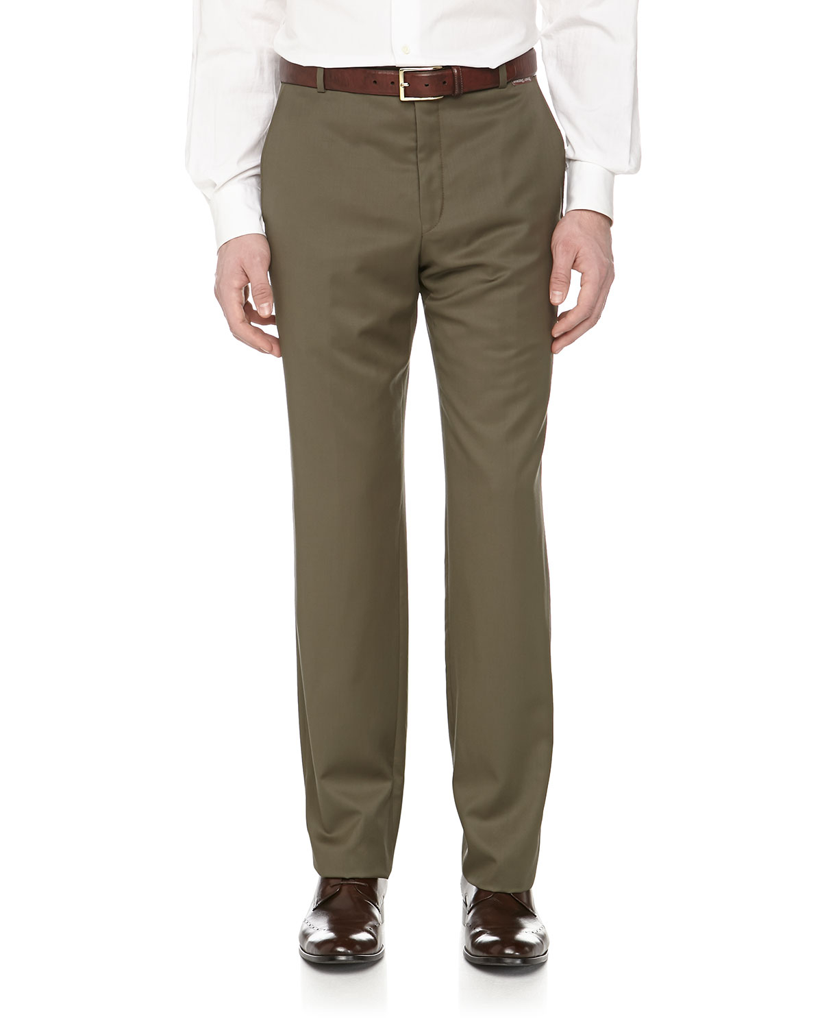Lyst Hickey Freeman Wool Suiting Dress Pants In Green