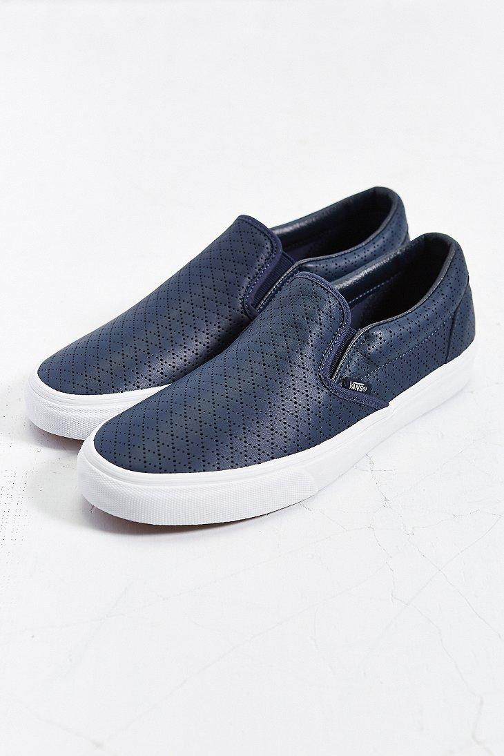 Vans Classic Leather Slip-On Sneaker in
