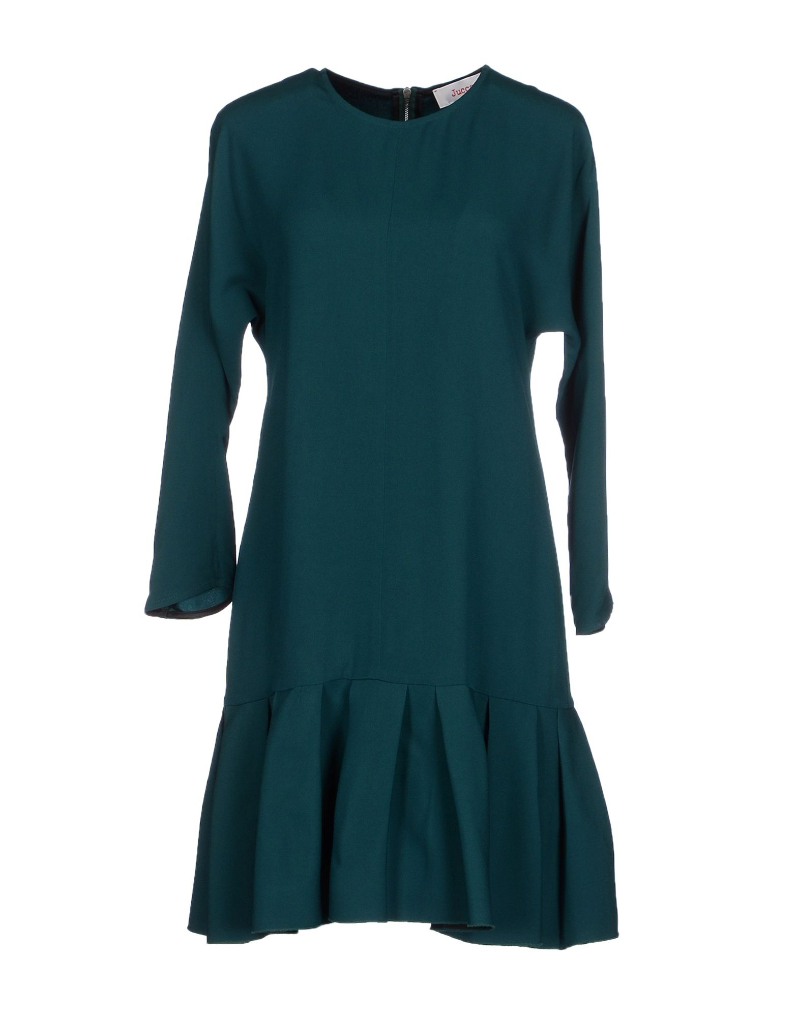 Jucca short dress in blue lyst Emerald green mens dress shirt