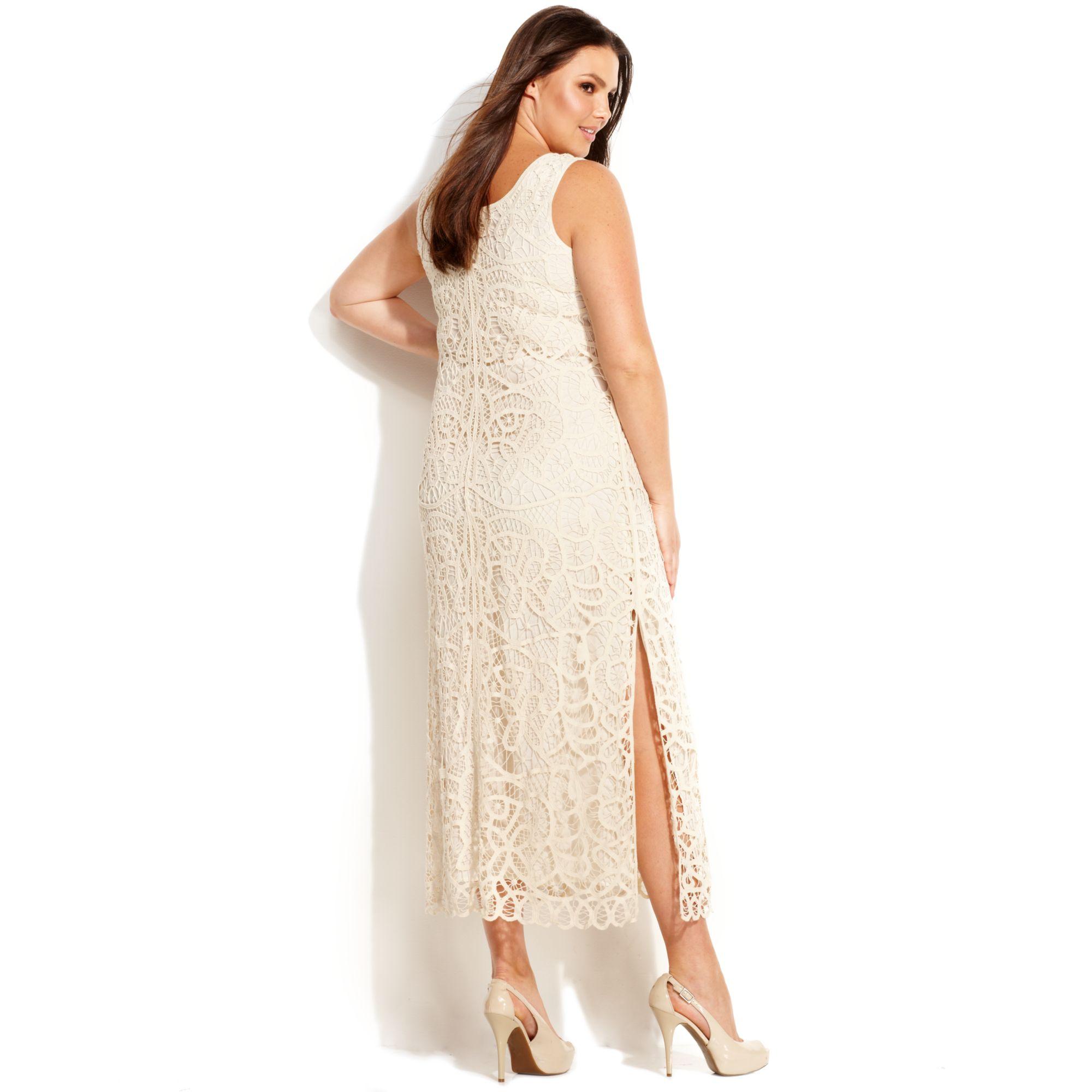 Inc International Concepts Plus Size Sleeveless Crochet