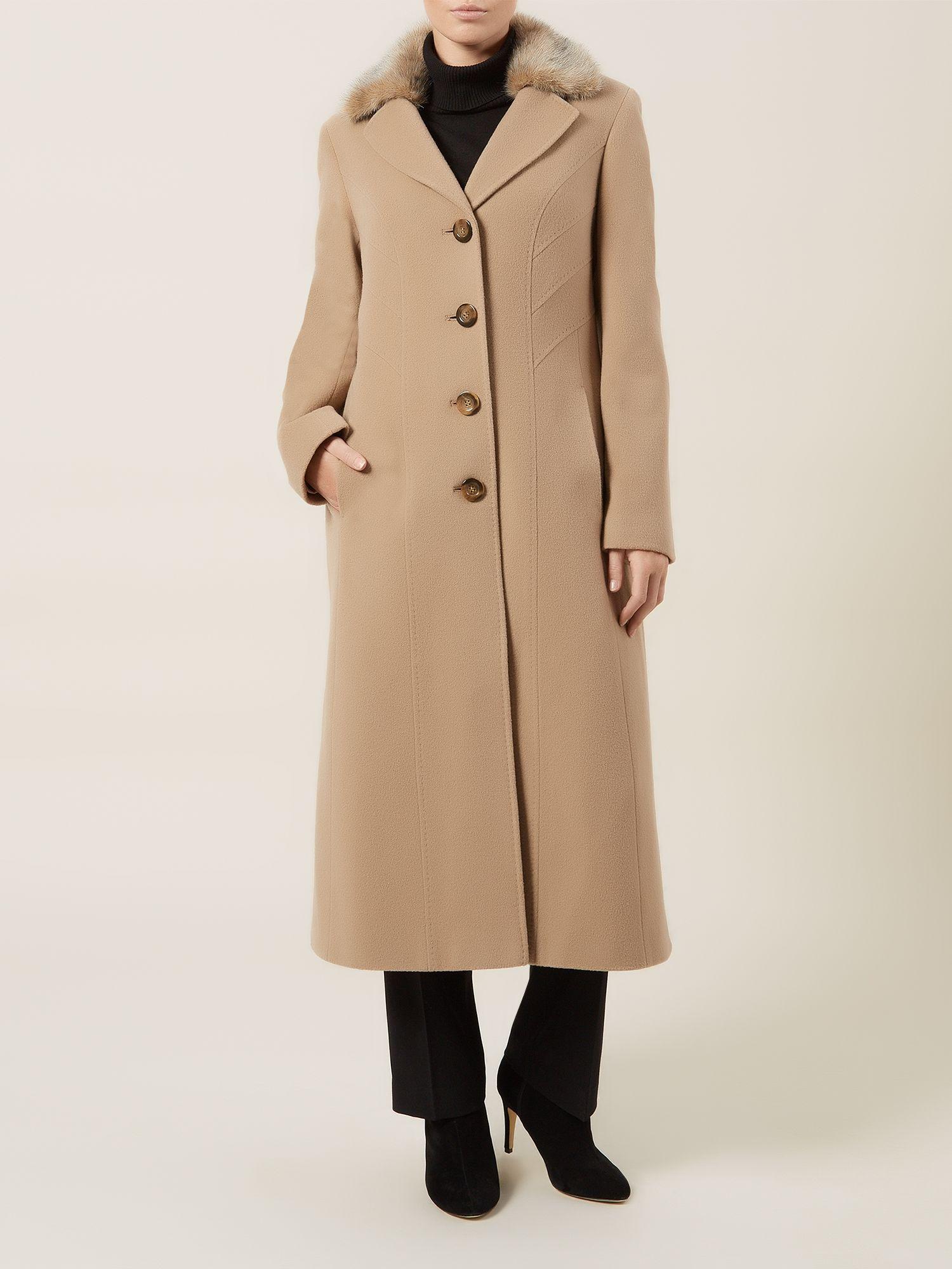 Lyst Precis Petite Long Camel Wool Coat In Natural