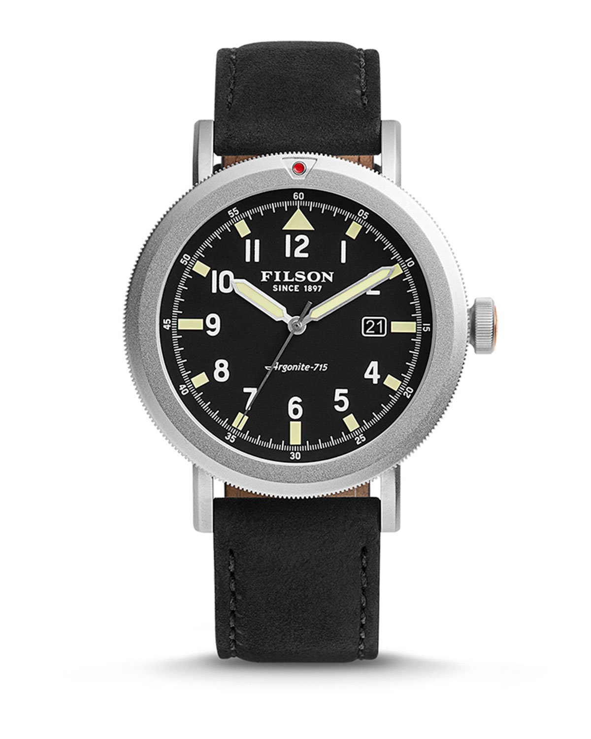 Lyst Filson 45 5mm Scout Watch With Leather Strap In
