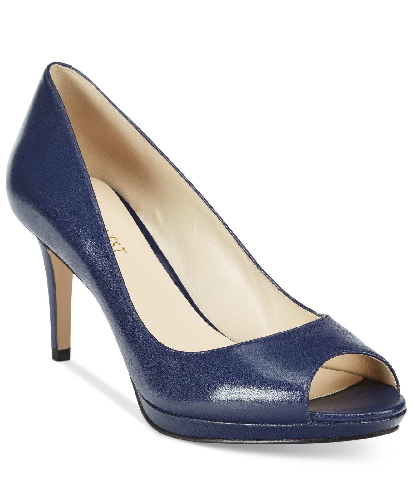 Nine West Blue Peep Toe Shoes