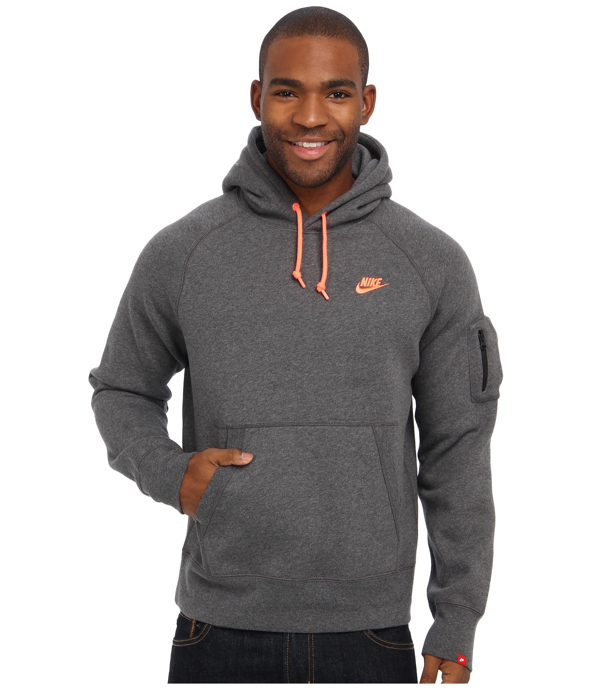 fecha Órgano digestivo sarcoma  Nike Aw77 Fleece Pullover Hoodie in Gray for Men - Lyst