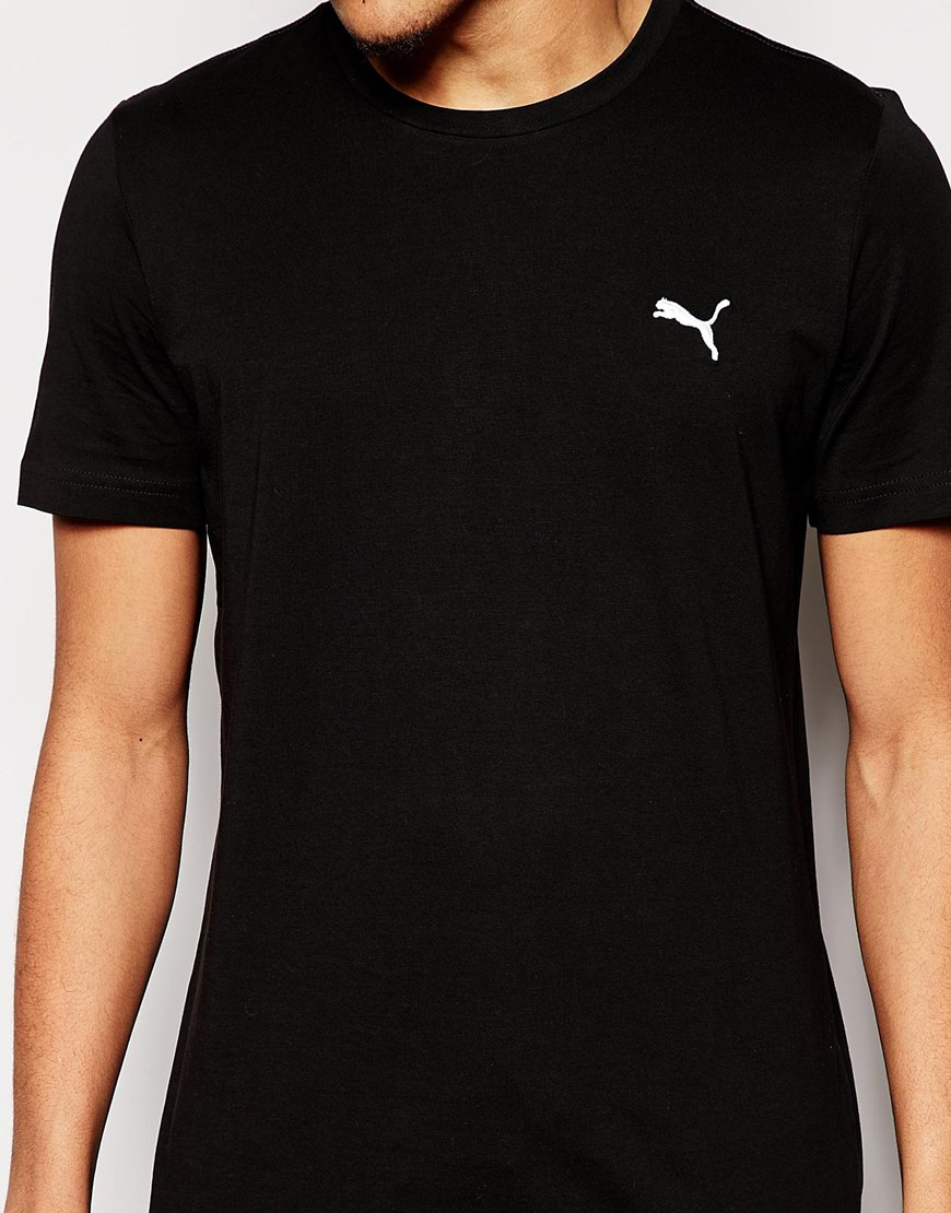 Lyst - PUMA T-Shirt With Small Logo in Black for Men a8ca6201caf7