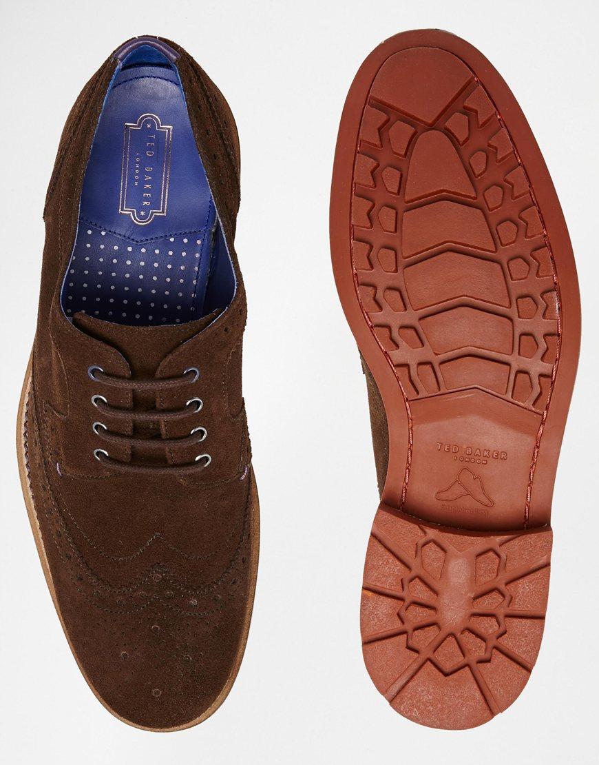 Ted Baker Hontaar Suede Brogue Shoes in