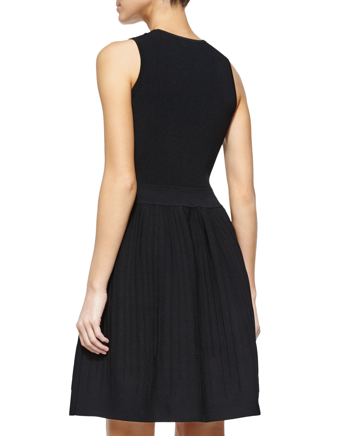 210f575e503 Lyst - Opening Ceremony Sleeveless Fit   Flare Dress in Black