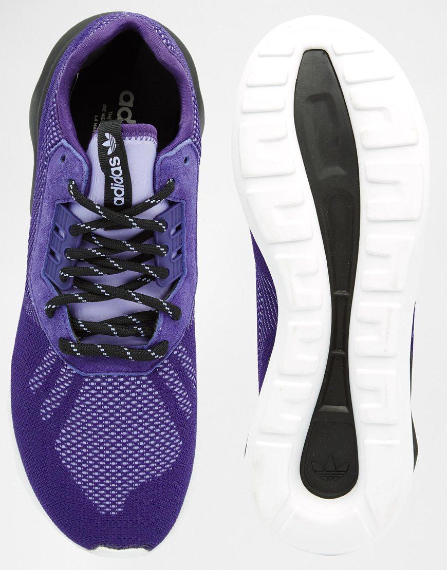39f3e0ca47cb adidas Originals Tubular Runner Weave Trainers S74811 - Purple - Lyst