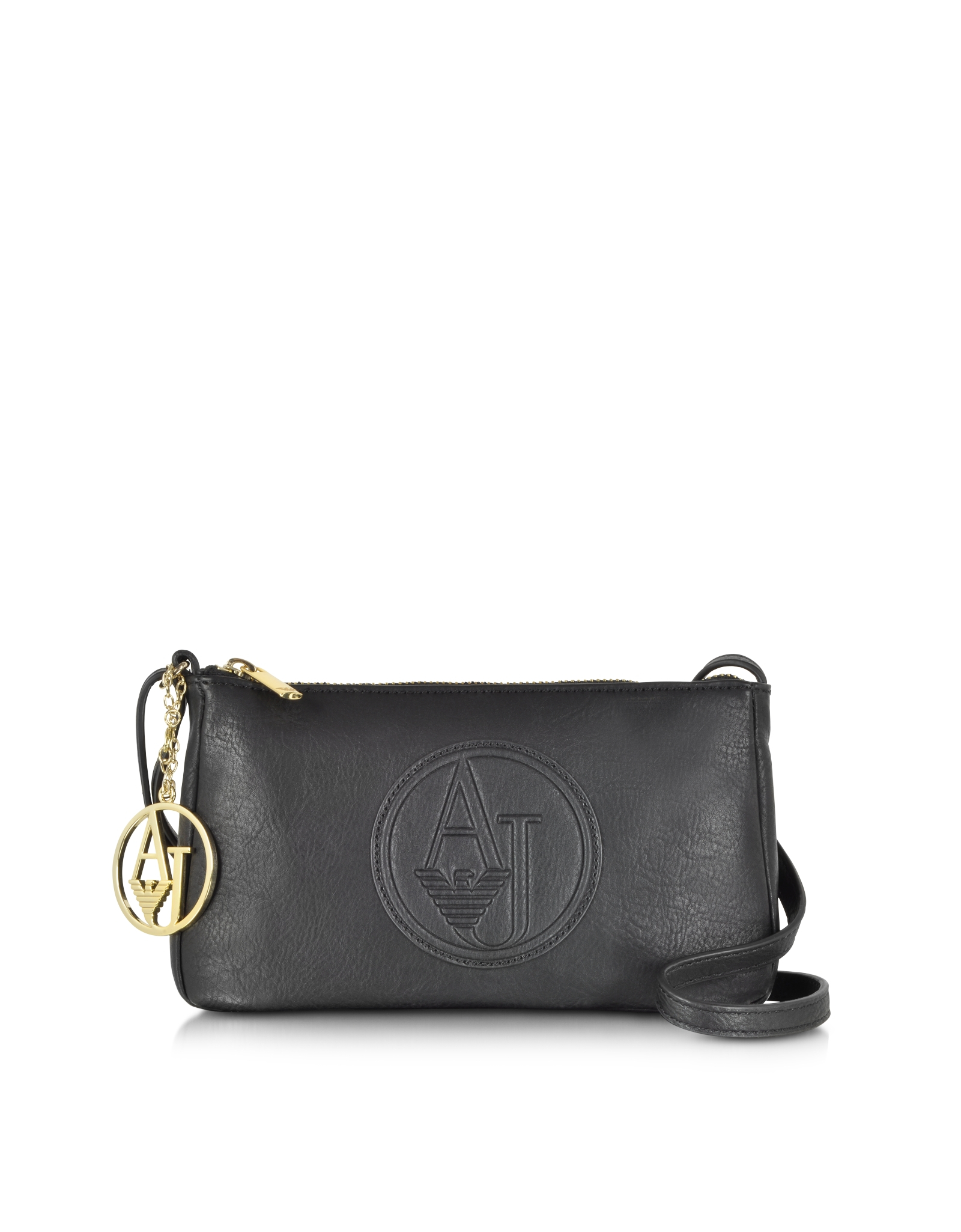 9061a0fa2f Armani Jeans Faux Leather Mini Crossbody Bag in Black - Lyst