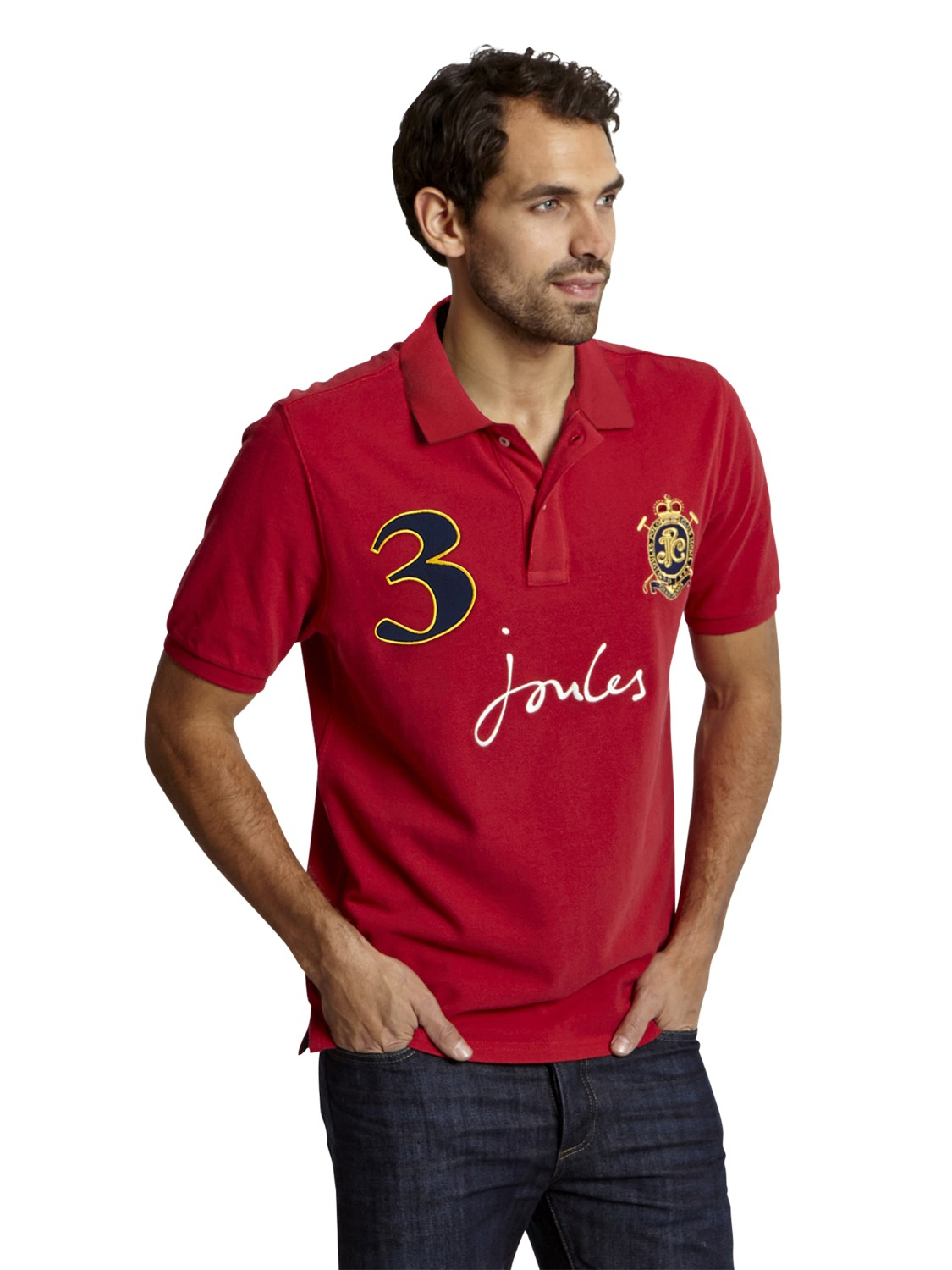 Joules Just Polo Top in Red for Men