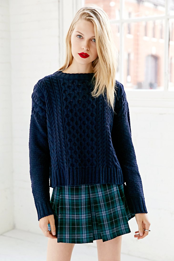 Navy Blue Cable Knit Sweater Images - Craft Design Ideas