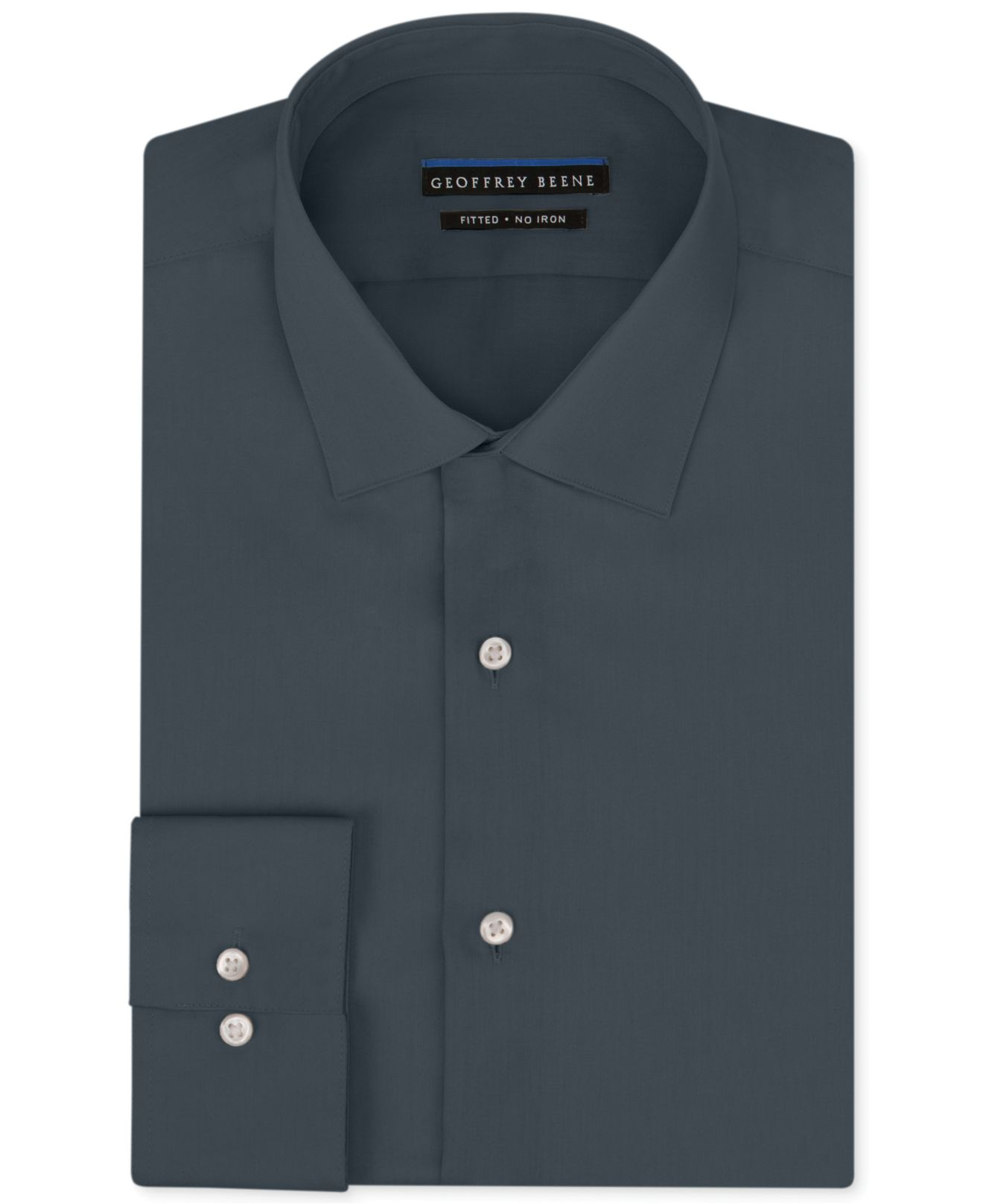 Geoffrey beene men 39 s fitted no iron stretch sateen dress for No iron shirts mens