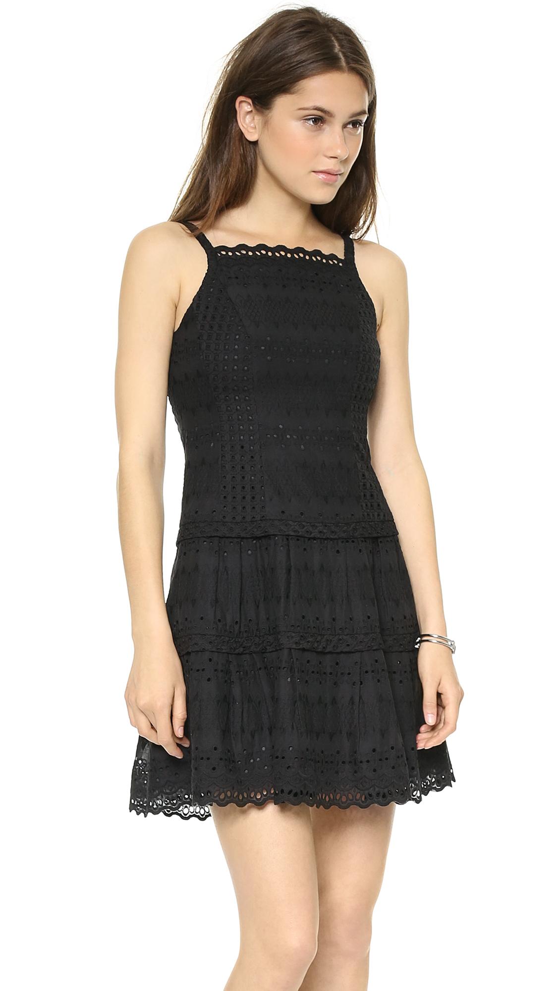 Lyst Nanette Lepore Wind Swept Dress In Black