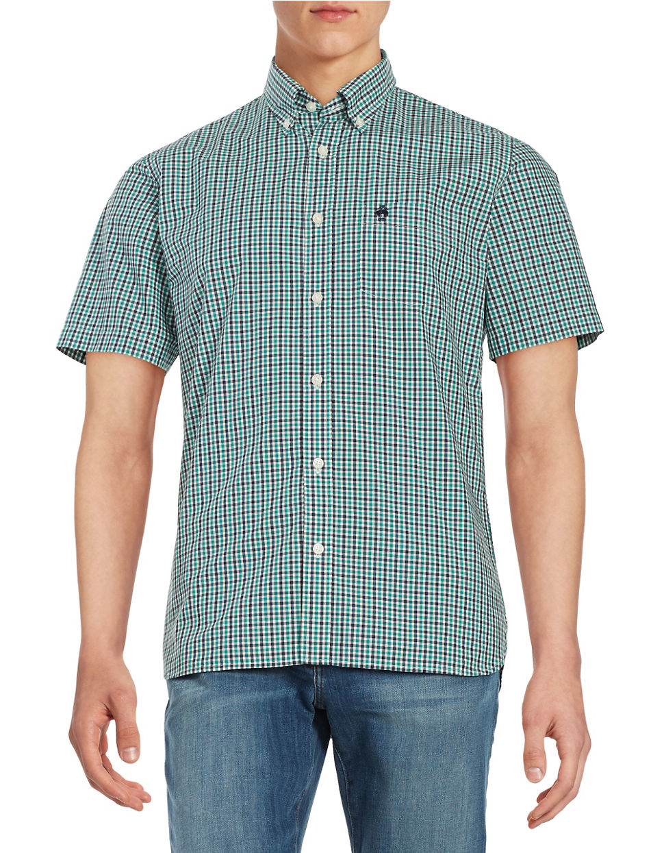 Brooks brothers red fleece Gingham Sportshirt in Blue for ...