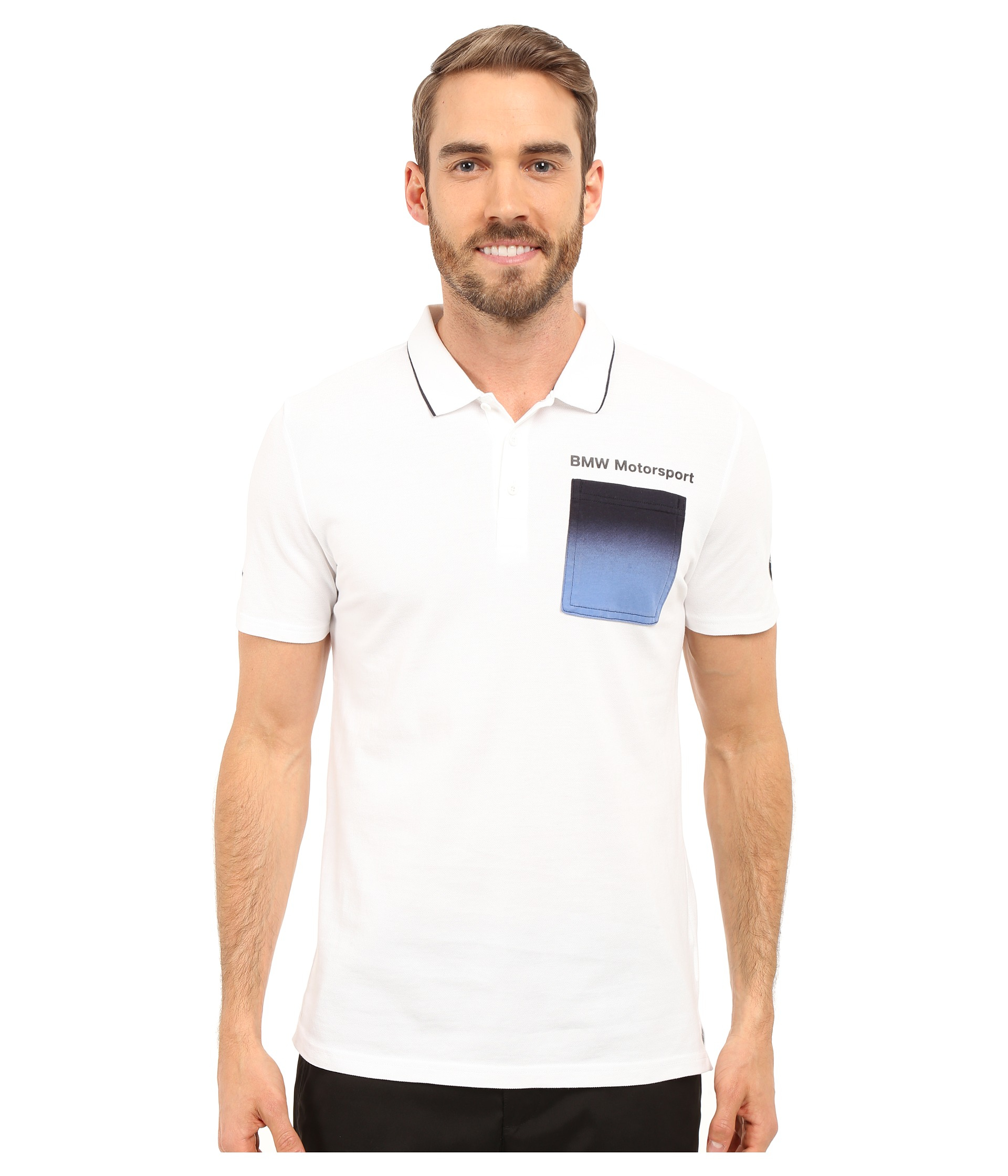 41a1be471660 Lyst - PUMA Bmw Msp Polo in White for Men
