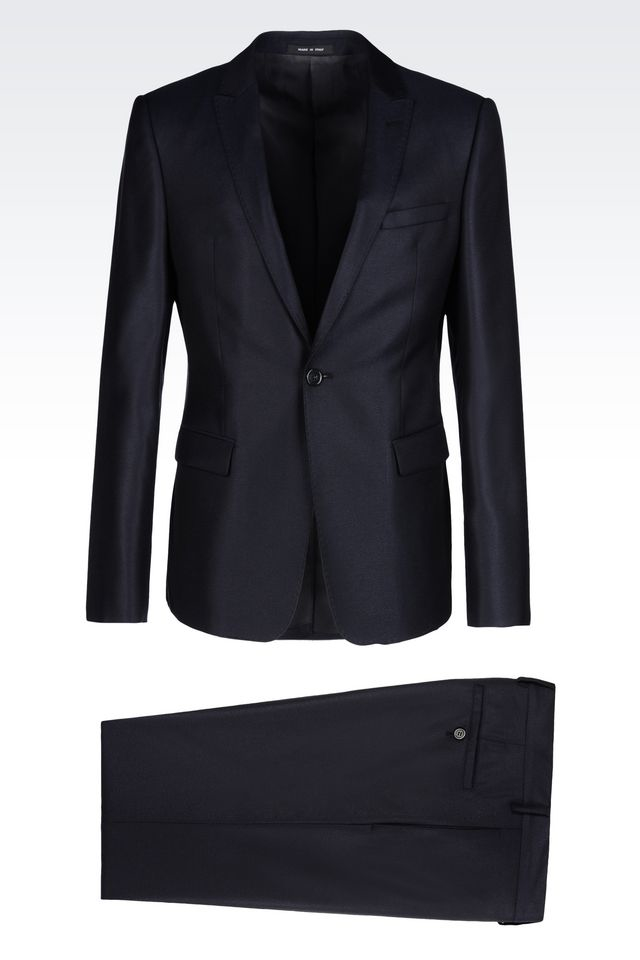 Lyst - Emporio Armani One Button Suit in Blue for Men