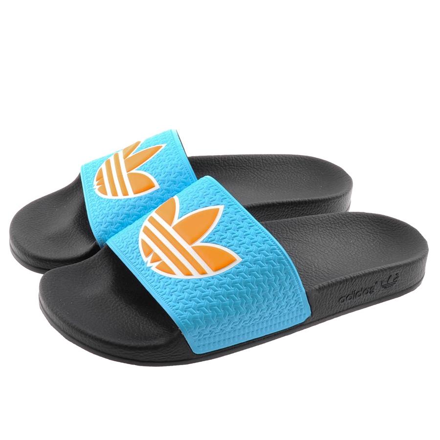 36774fb62db3 Lyst - adidas Originals Adilette Trefoil Flip Flops in Blue for Men