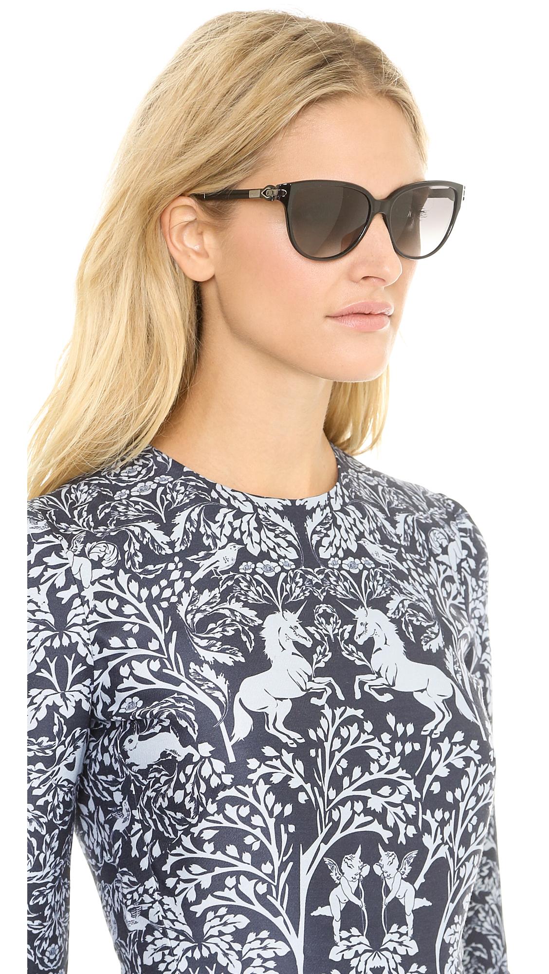 491162c413076 Givenchy Cat Eye Sunglasses - Black Smoke in Black - Lyst