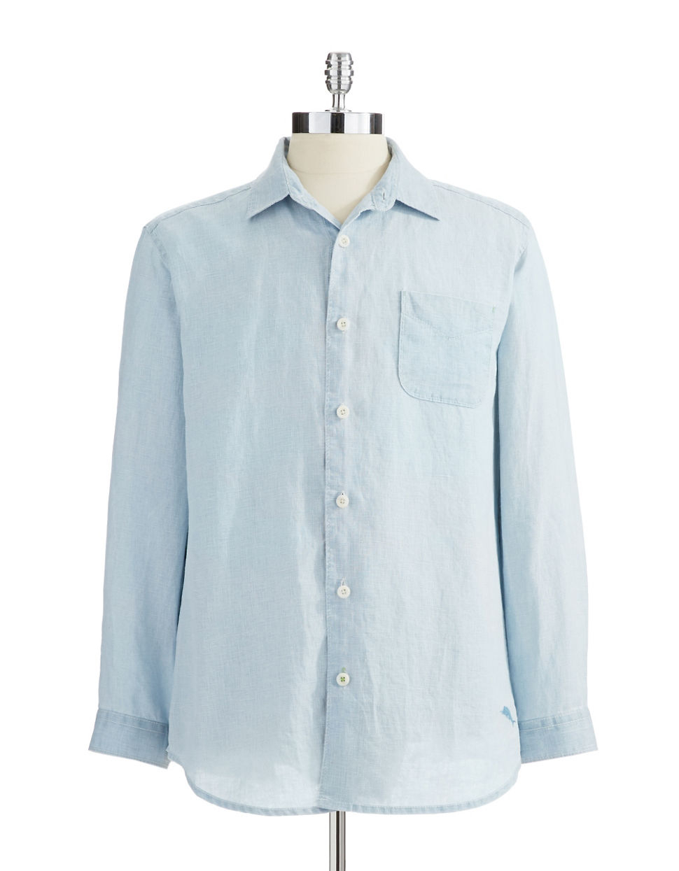 Lyst tommy bahama button down shirt in blue for men for Tommy bahama christmas shirt 2014
