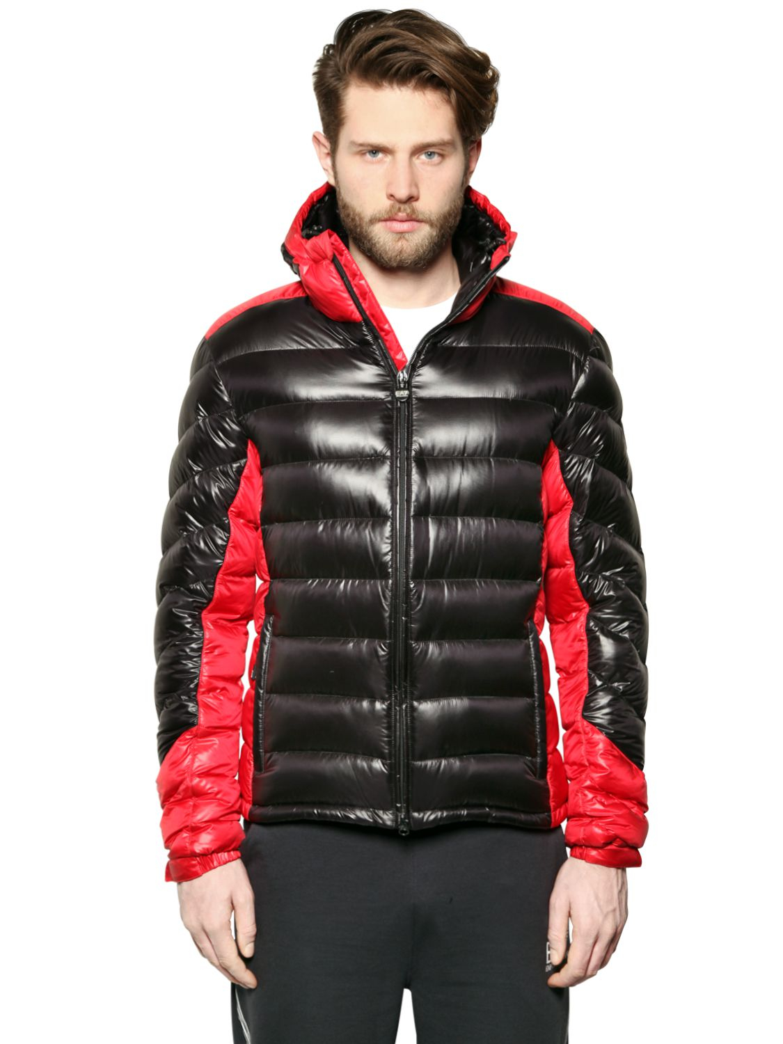 246bcded10 Emporio Armani Red Extreme Shiny Nylon Down Jacket for men