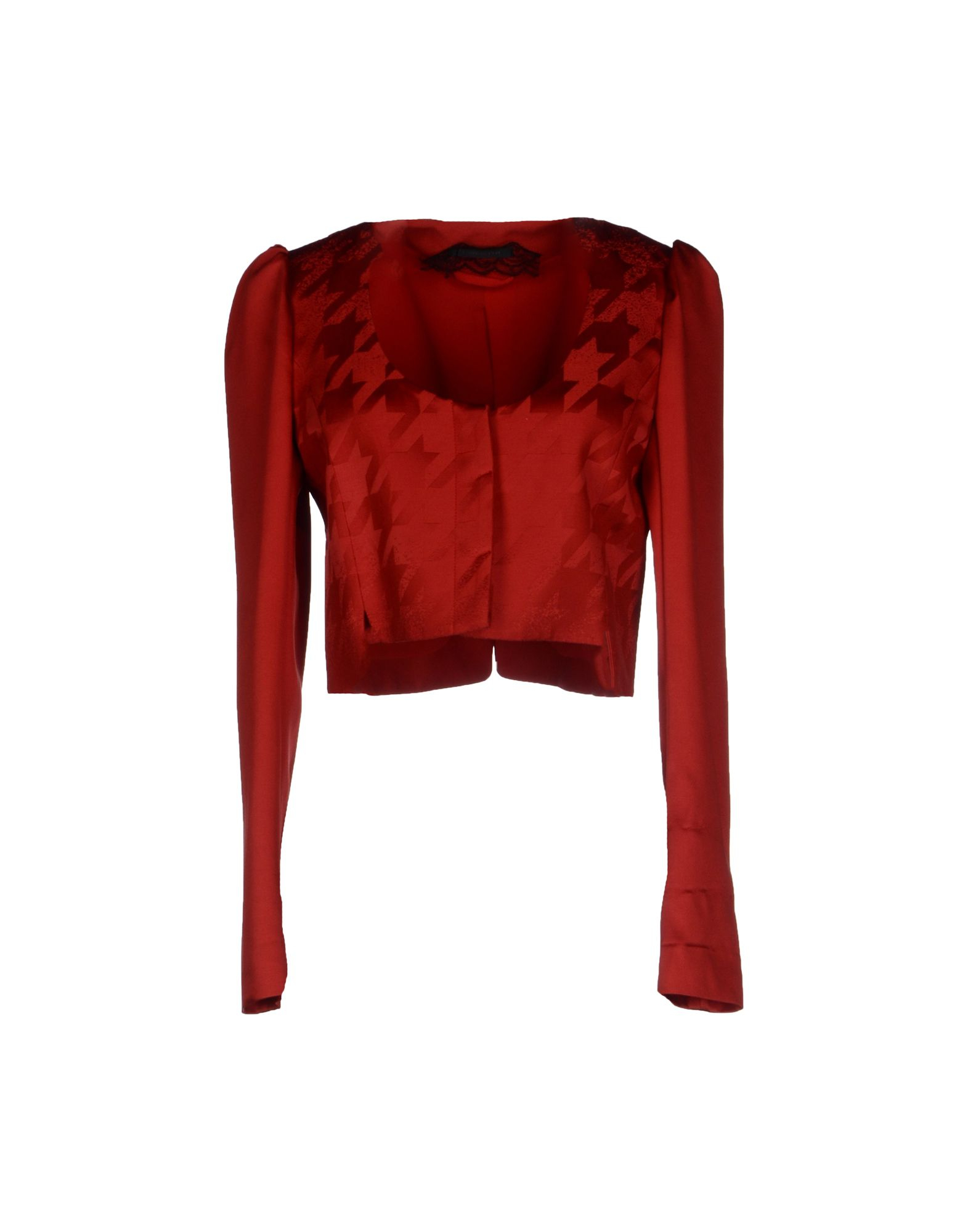 lyst patrizia pepe blazer in red. Black Bedroom Furniture Sets. Home Design Ideas