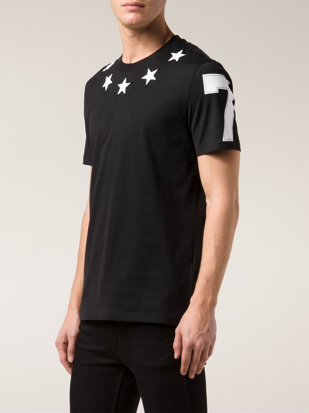Givenchy Terry Cloth Star T Shirt In Black For Men Lyst