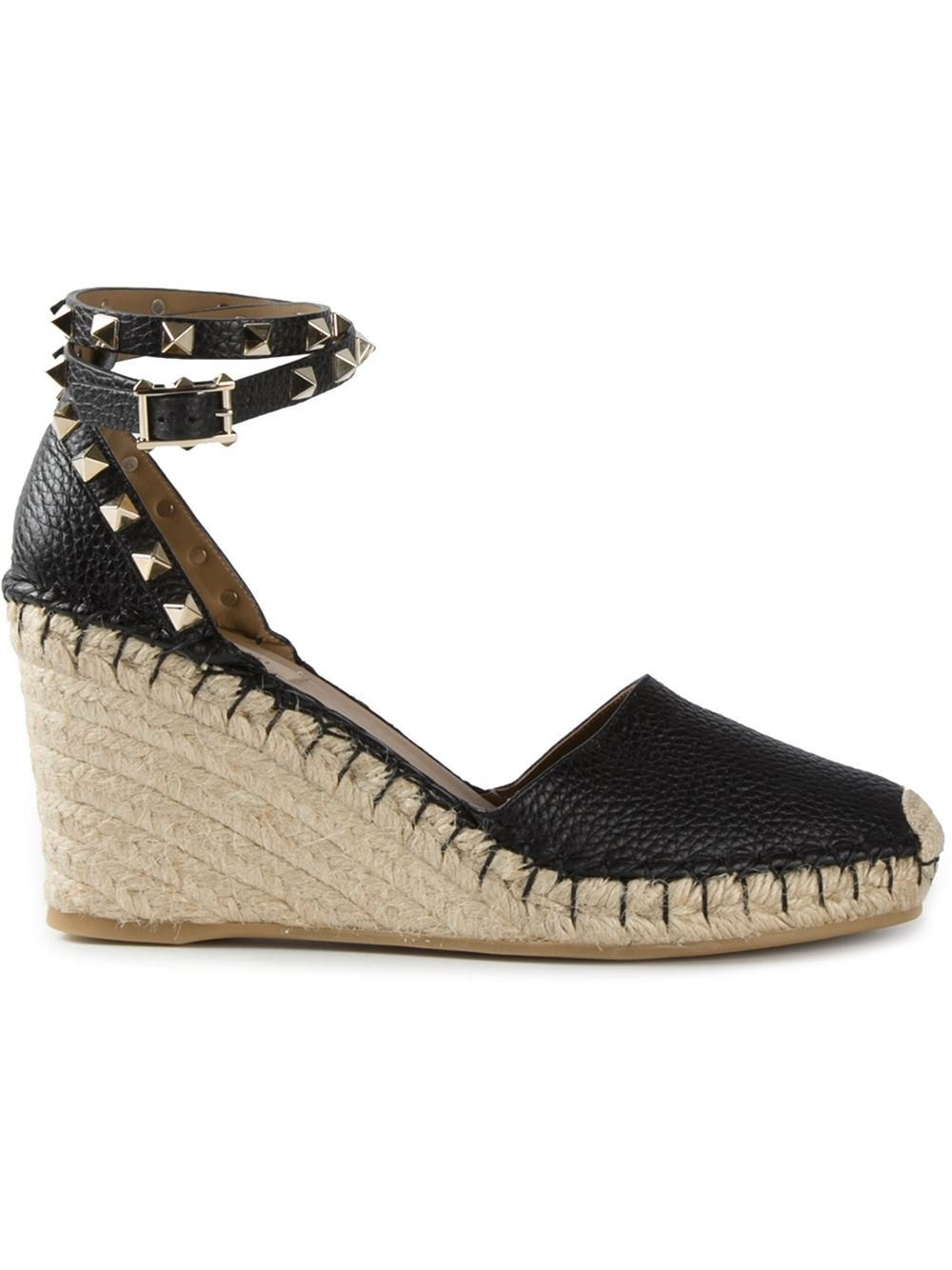 Valentino Wedge Espadrilles In Black Lyst