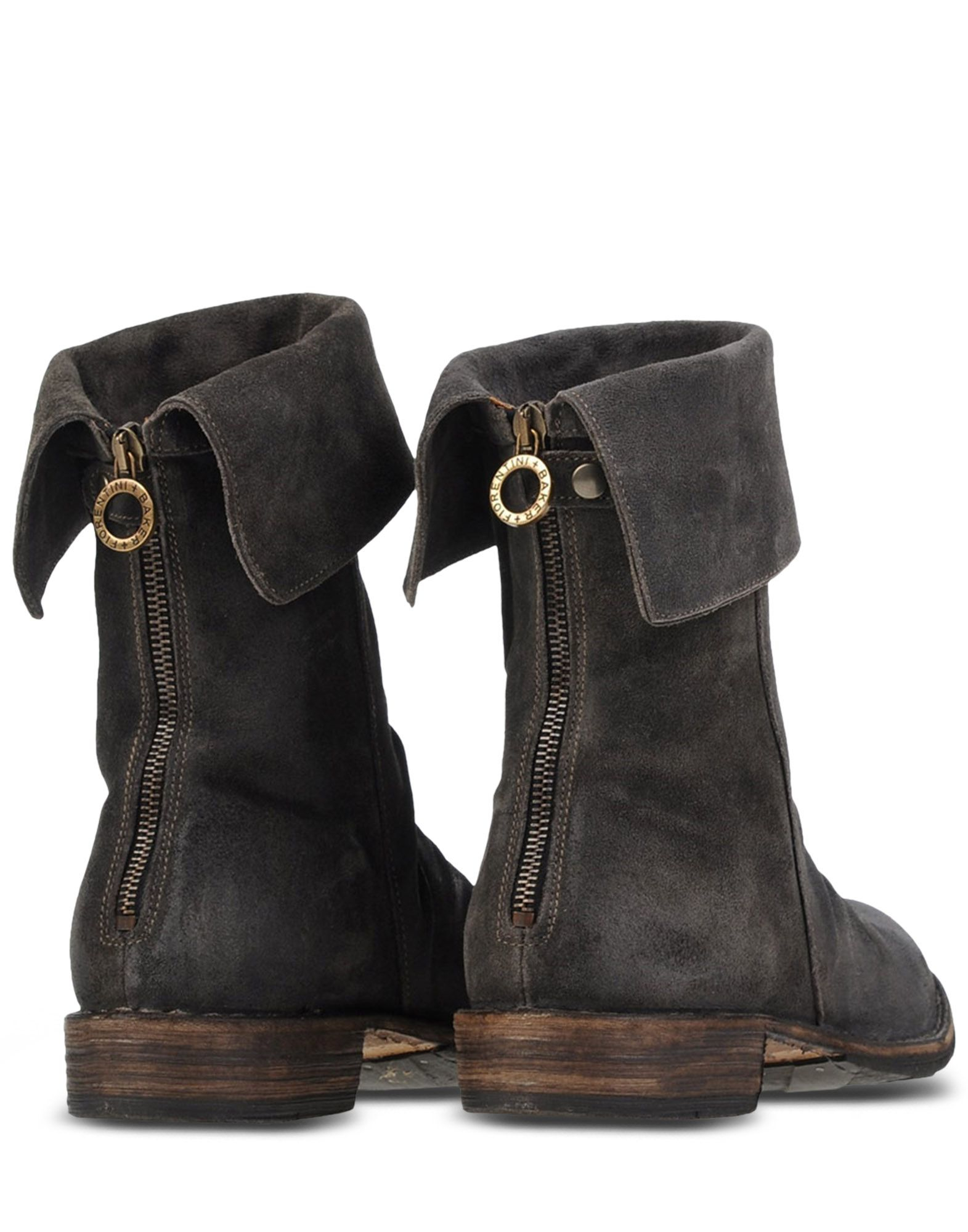 fiorentini baker slouched ankle boots in gray steel grey lyst. Black Bedroom Furniture Sets. Home Design Ideas
