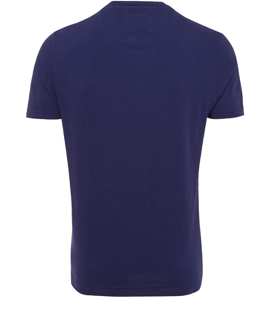 Original Penguin Blue Jaz Pocket Tshirt for Men