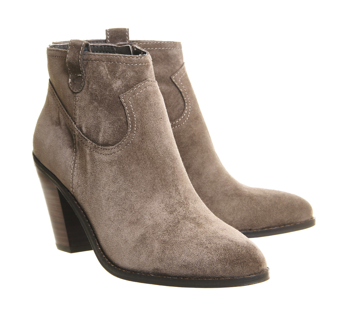 ash ivana heeled boots in brown lyst