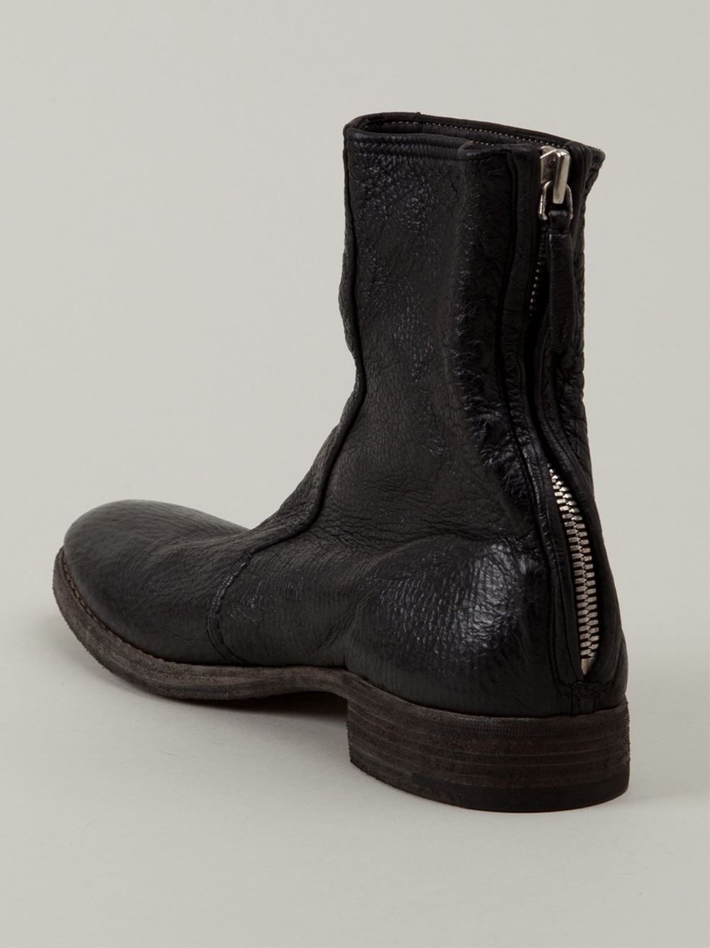 Back Zip Ankle Boots