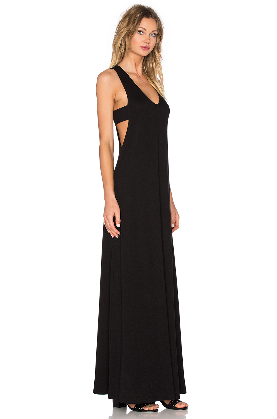 Lanston Cutout Maxi Dress in Black | Lyst