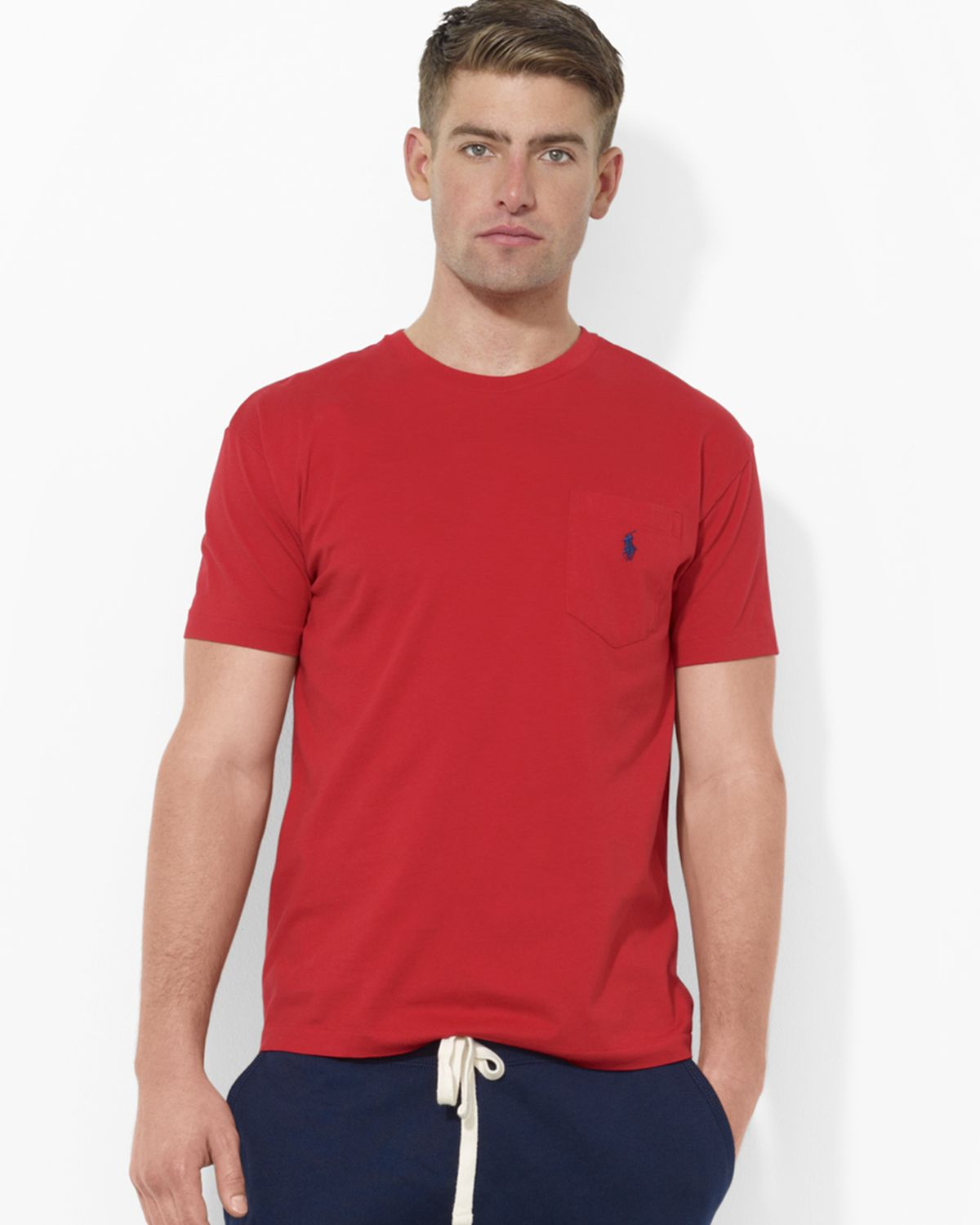 Ralph lauren polo classic fit short sleeved cotton pocket for Polo t shirts with pocket online