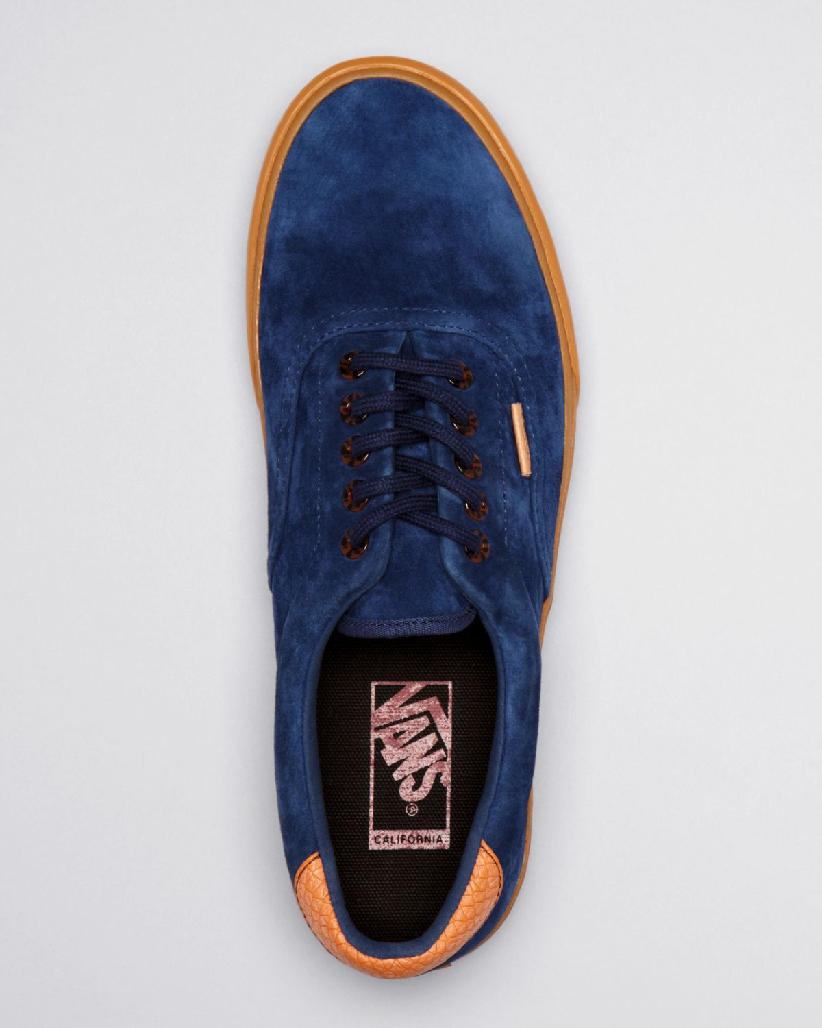 Lyst Vans Suede Era 59 Gum Sole Sneakers In Blue For Men