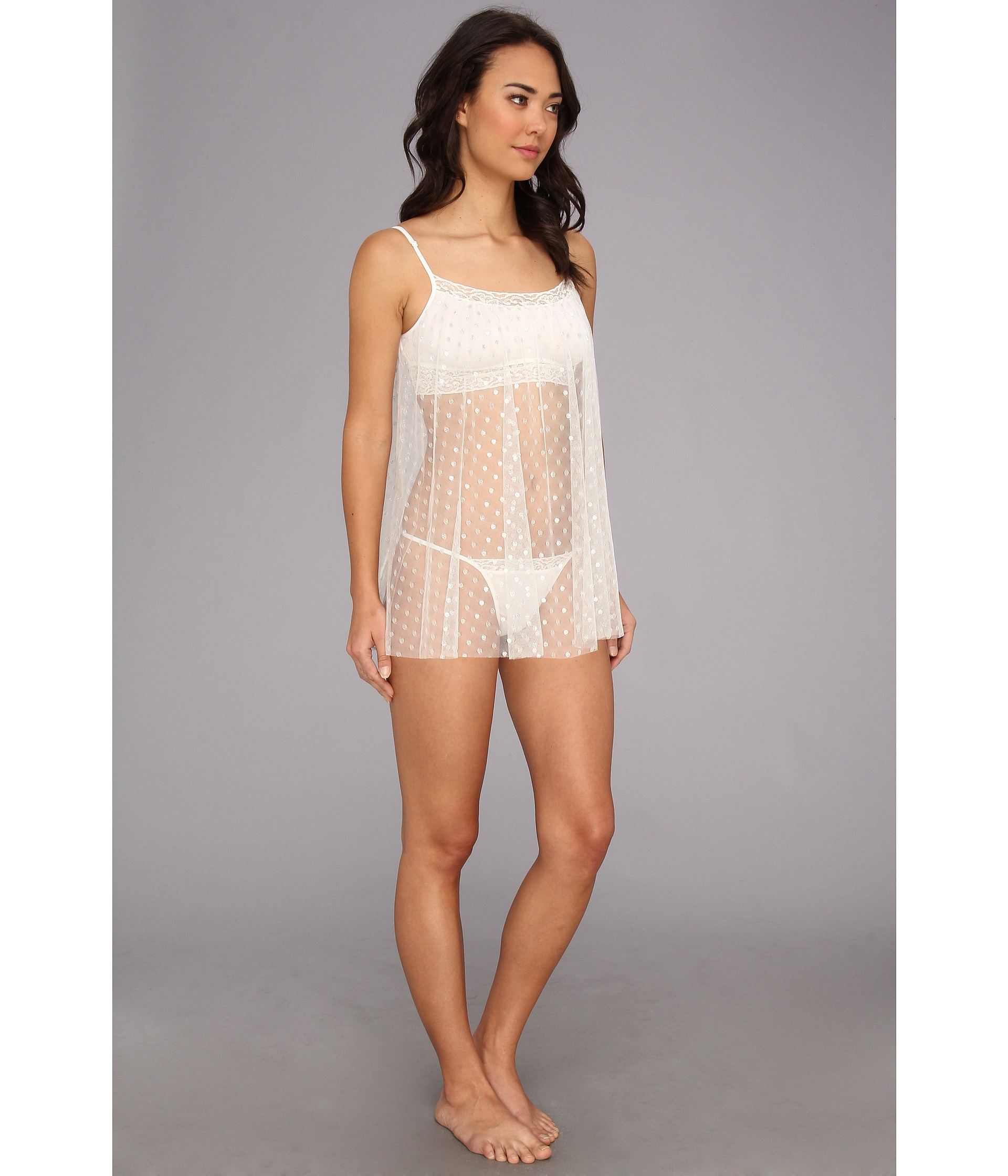 6798822ea44 Betsey Johnson Natural Point Desprit Babydoll W Knit Shelf Bra
