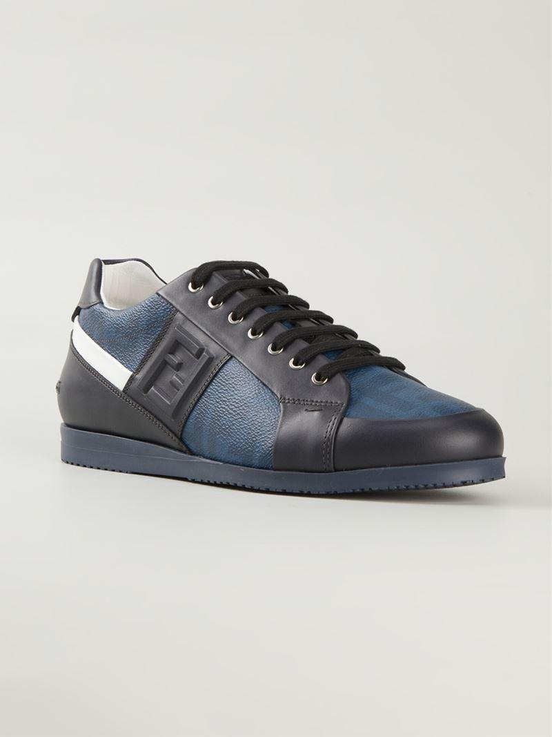 e1a7fed9 Fendi Blue Wimbledon Sneakers for men
